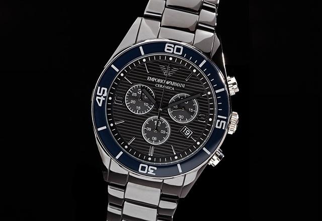 Emporio Armani BlackBlack Textured Ceramic Watch