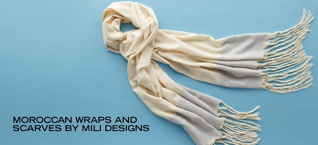 Moroccan Wraps and Scarves by Mili Designs at MYHABIT