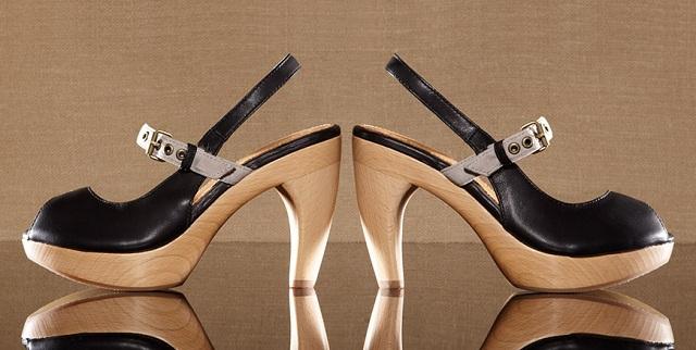 J. Shoes Carnival Women's Wooden Platform Heels