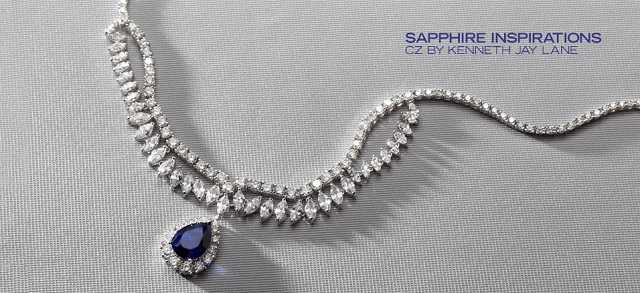Sapphire Inspirations CZ by Kenneth Jay Lane at MYHABIT