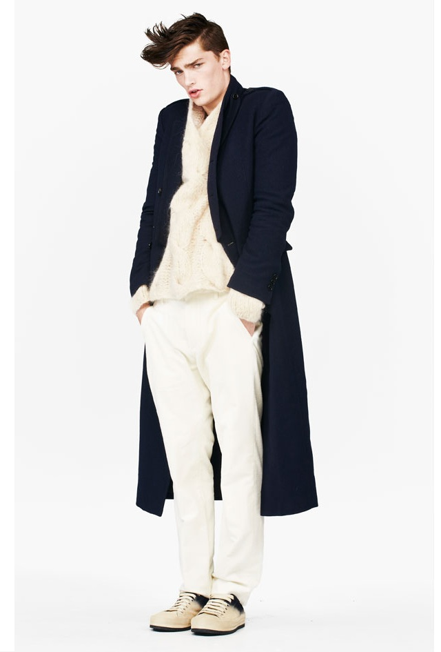 Ann Demeulemeester Long Navy Crow Coat