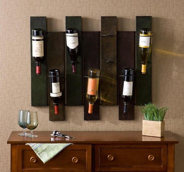 Nora 7-bottle Wall-mount Wine Rack