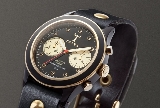 TRIWA Ebony Gold Brasco Chrono