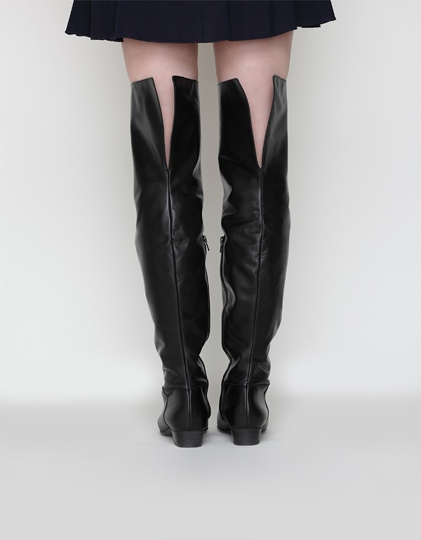 Enrica Over The Knee Leather Boot
