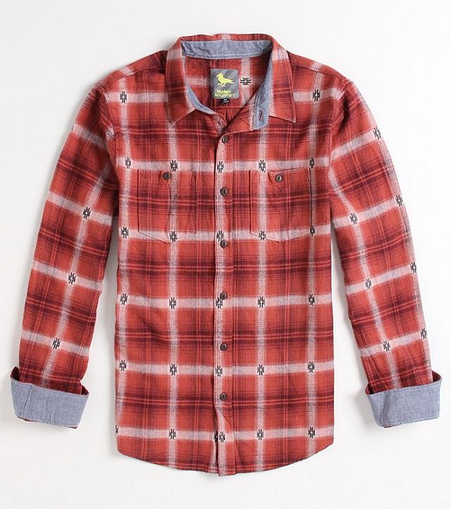 Modern Amusement Blanket Long Sleeve Woven Shirt