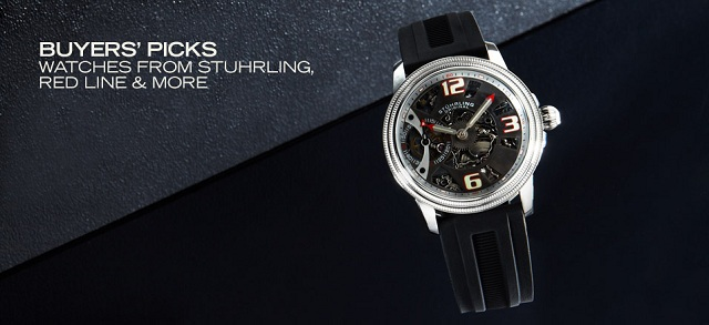 Buyers' Picks: Watches from Stuhrling, red line & More at MYHABIT