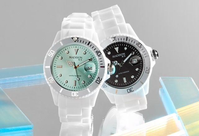 Madison Candy Time Black Polycarbonate Watch
