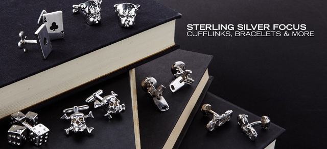 Sterling Silver Focus: Cufflinks, Bracelets & More at MYHABIT