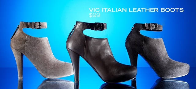 All $99: Vic Italian Leather Boots at MYHABIT