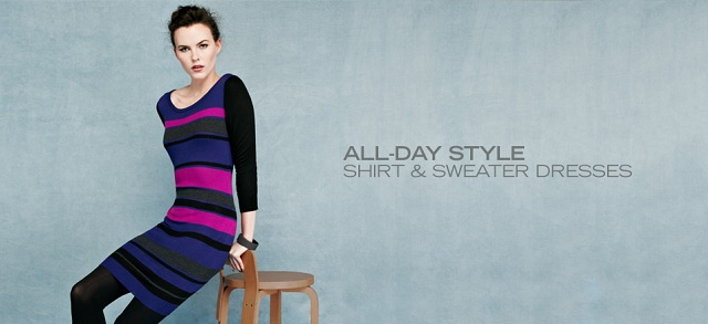 All-Day Style: Shirt & Sweater Dresses at MYHABIT