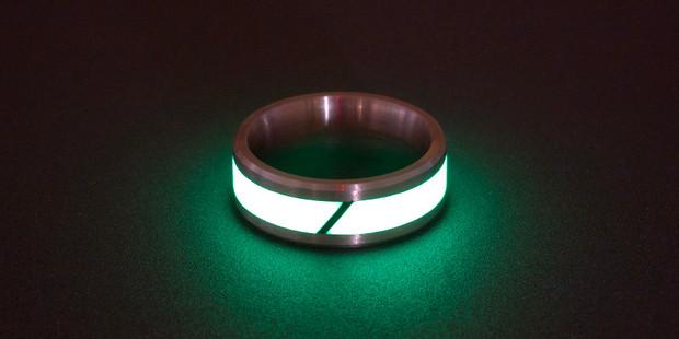 Black Badger Rings of Titanium & Carbon Fiber