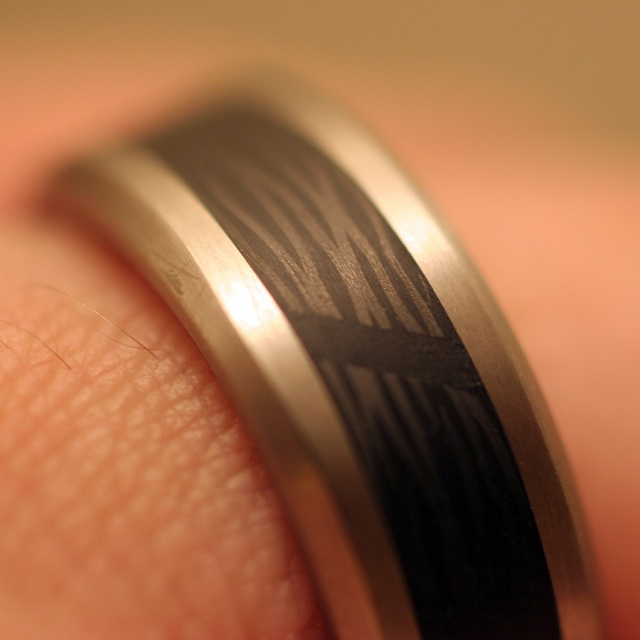 Black Badger Rings of Titanium & Carbon Fiber_1