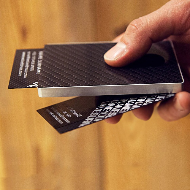 Cardissimo Carbon Fibre Card Case Gray_1