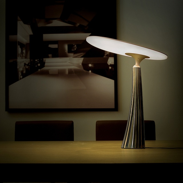 Coral Reef Table Lamp by QisDesign for Square Walnut