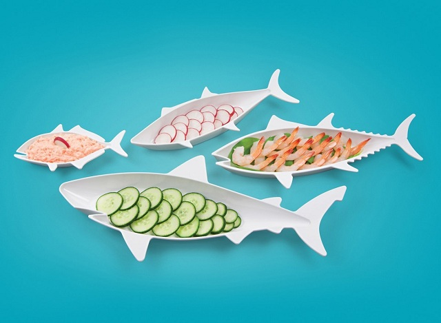FISH FOOD Nesting Dishes by Fred and Friends