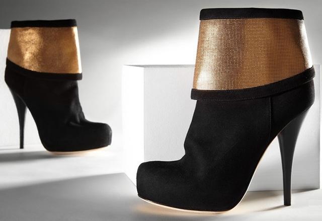 Fendi Women's Pony Hair Cuffed Boots
