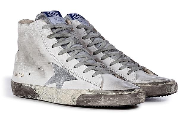GOLDEN GOOSE Leather Francy Hi Sneakers
