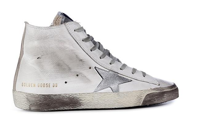 GOLDEN GOOSE Leather Francy Hi Sneakers_2