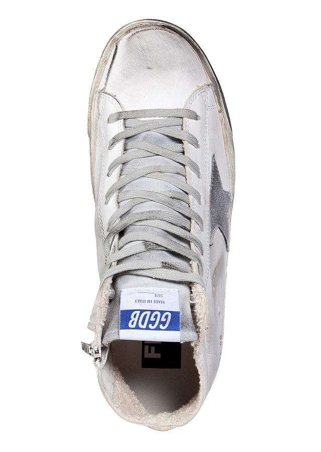 GOLDEN GOOSE Leather Francy Hi Sneakers_4