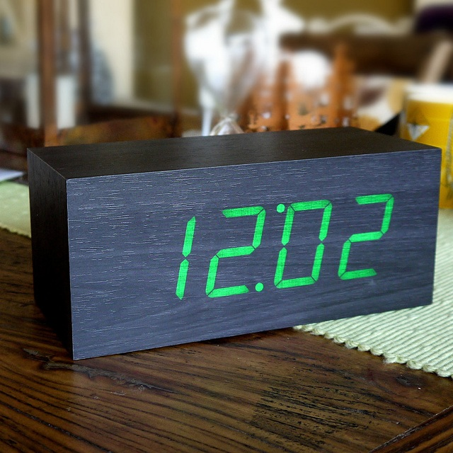 Gingko LED Large Alarm Click Clock_2