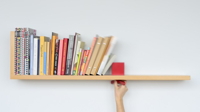Hold on Tight Bookshelf by Colleen Whiteley