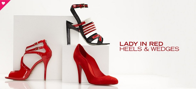 Lady In Red: Heels & Wedges at MYHABIT