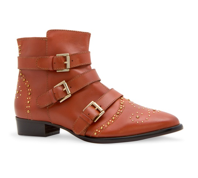 MANGO Studded Leather Ankle Boots3
