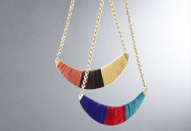 Nissa Red Ettie Large Necklace