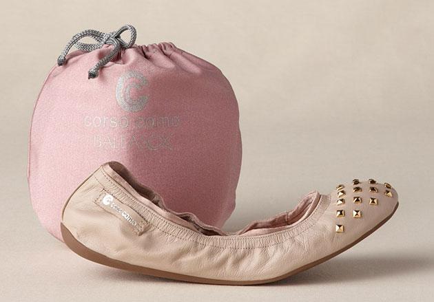Ballasox by Corso Como Women's Studded Cap Toe Ballet Flat