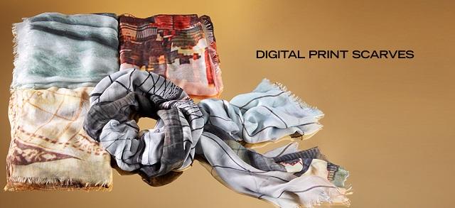 Digital Print Scarves at MYHABIT