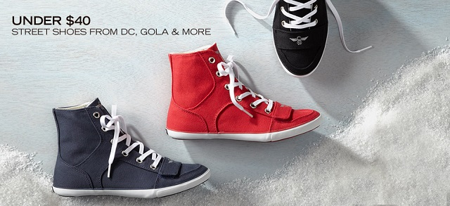 Under $40: Street Shoes from DC, Gola & More at MYHABIT