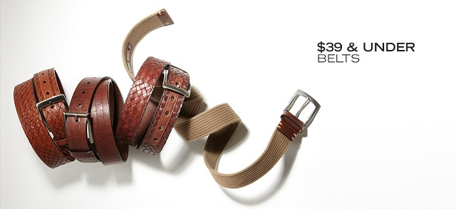 $39 & Under Belts at MYHABIT