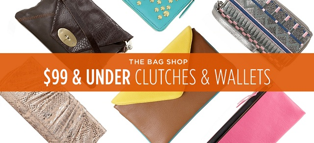 $99 & Under Clutches & Wallets at MYHABIT