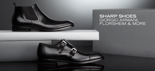 Sharp Shoes Giorgio Armani, Florsheim & More at MYHABIT