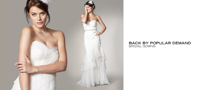 Back by Popular Demand Bridal Gowns at MYHABIT