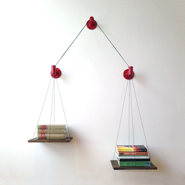 Cush Design Studio Balance Bookshelf - Red