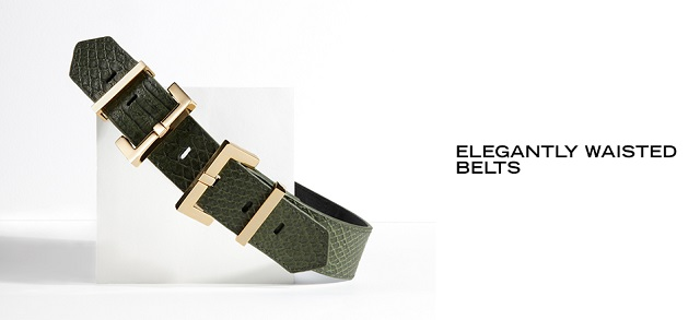 Elegantly Waisted Belts at MYHABIT