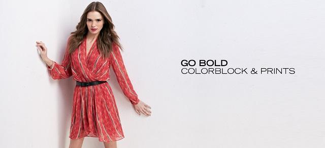 Go Bold Colorblock & Prints at MYHABIT