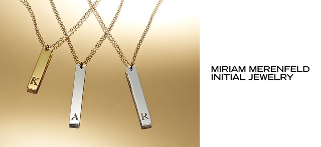 Personalized Initial Pendants by Miriam Merenfeld at MYHABIT