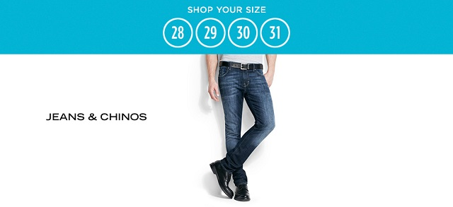 Shop Your Size 28-31 Jeans & Chinos at MYHABIT