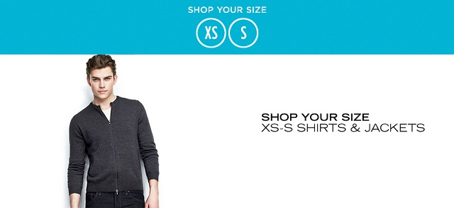 Shop Your Size XS-S Shirts & Jackets at MYHABIT