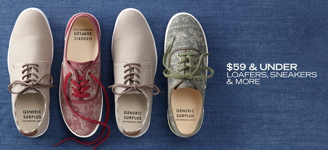 $59 & Under Loafers, Sneakers & More at MYHABIT
