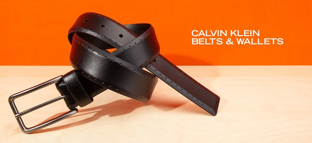 Calvin Klein Belts & Wallets at MYHABIT