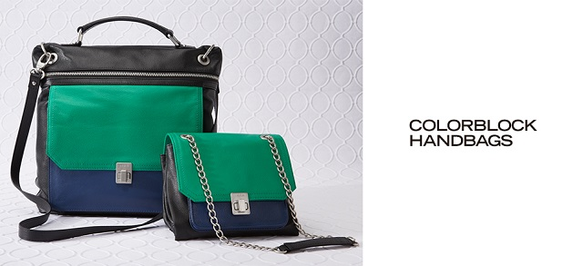 Colorblock Handbags at MYHABIT