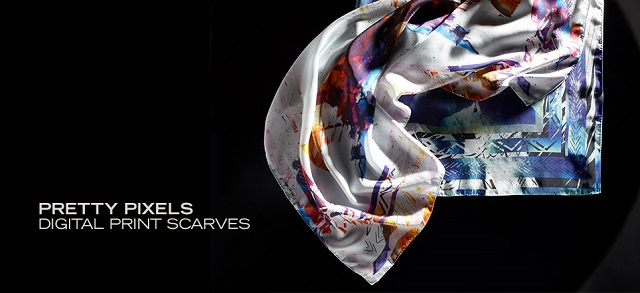 Pretty Pixels Digital Print Scarves at MYHABIT