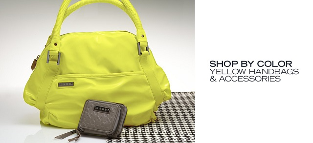 Shop by Color Yellow Handbags & Accessories at MYHABIT