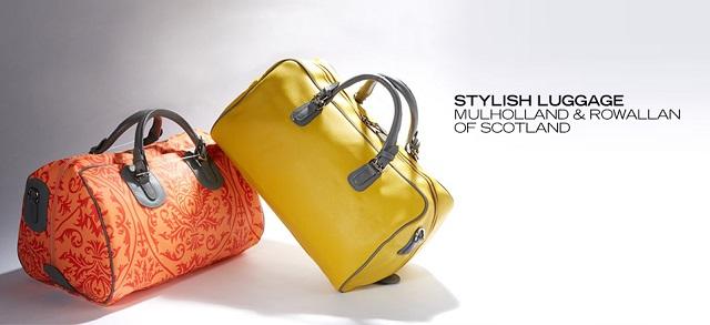 Stylish Luggage Mulholland & Rowallan of Scotland at MYHABIT