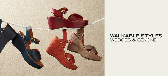 Walkable Styles Wedges & Beyond at MYHABIT
