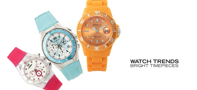 Watch Trends Bright Timepieces at MYHABIT