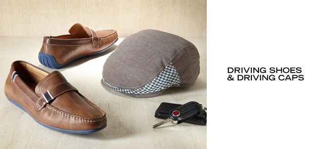 Driving Shoes & Driving Caps at MYHABIT